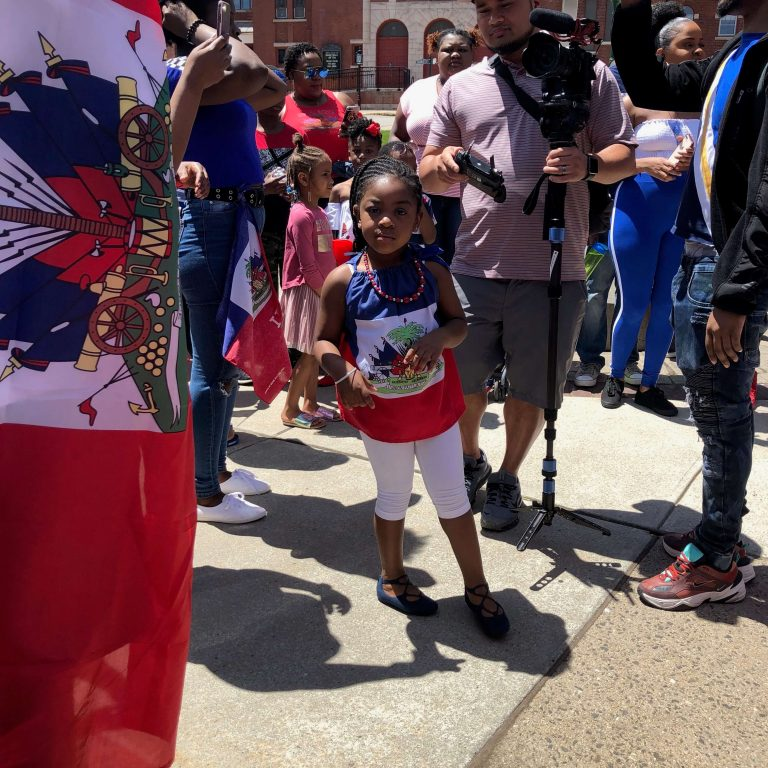 Global City Norwich 2019 Haitian Festival Little Girl At City Hall