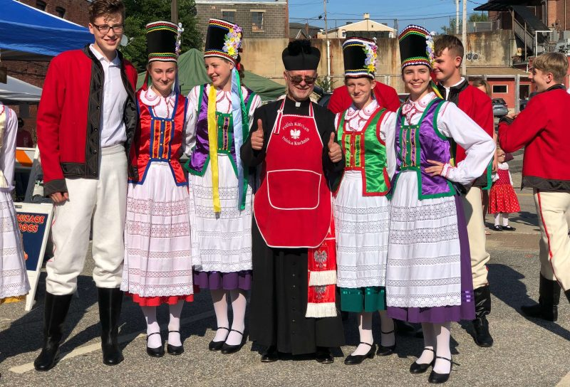 Global City Norwich 2019 Polish Festival Group with Priest